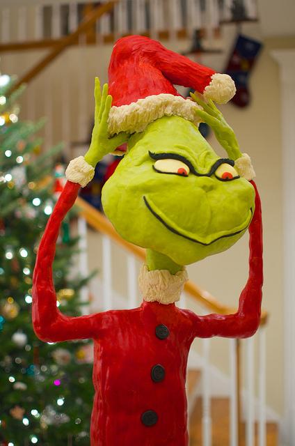 Let an edible Grinch be the star at your next Christmas party.