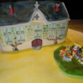Edible sugar art houses for birthday parties and other special occasions.