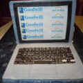 Edible computer with edible images on the monitor.