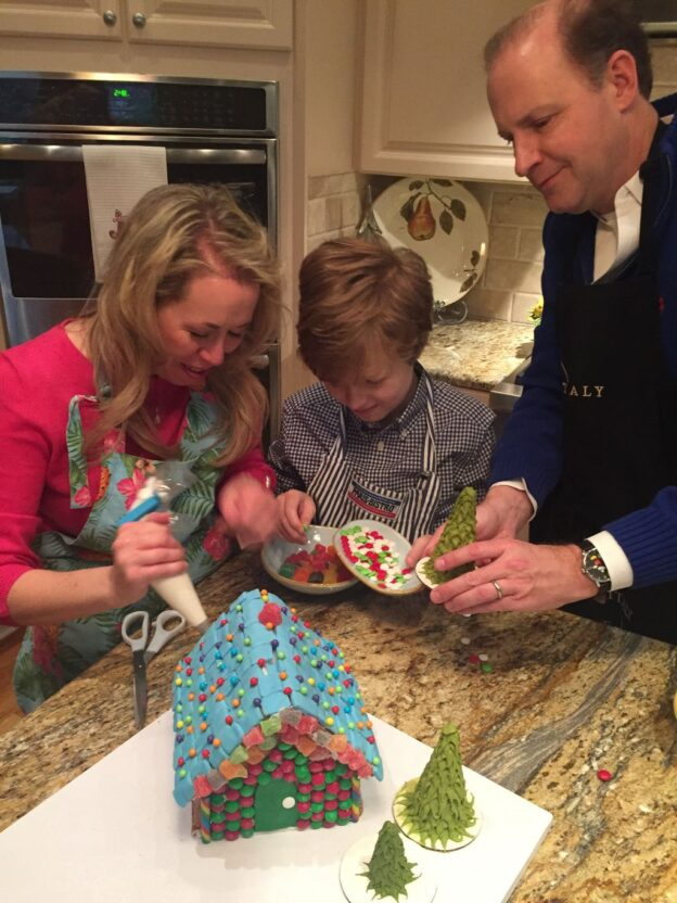 We teach gingerbread house building and decorating for the whole family