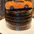 GTR in chocolate and used as a cake topper