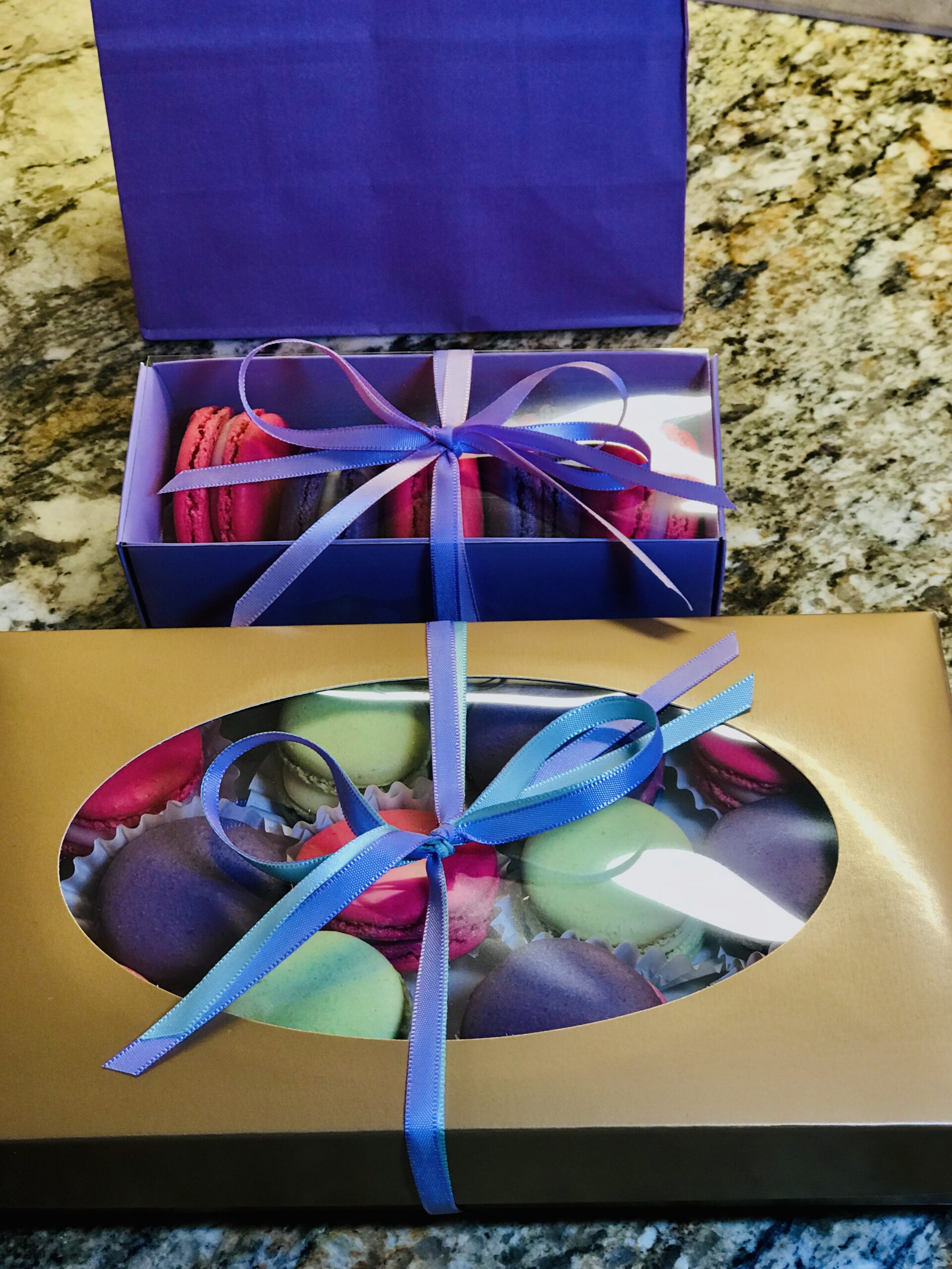 Macaron (not to be confused with Macaroon) gift boxes